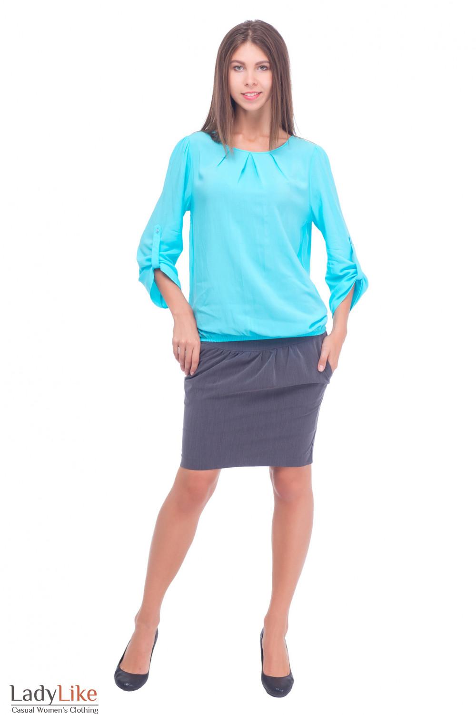 Купить серую деловую блузку Деловая женская одежда