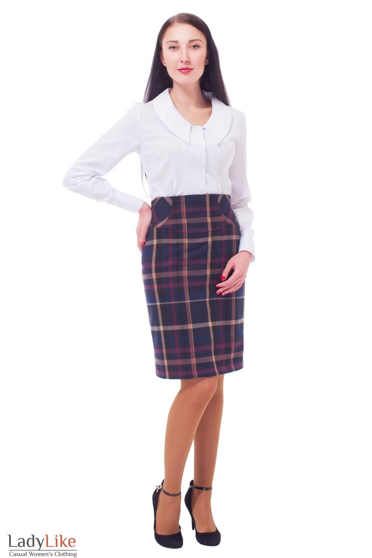Купить юбку с высокой талией Деловая женская одежда