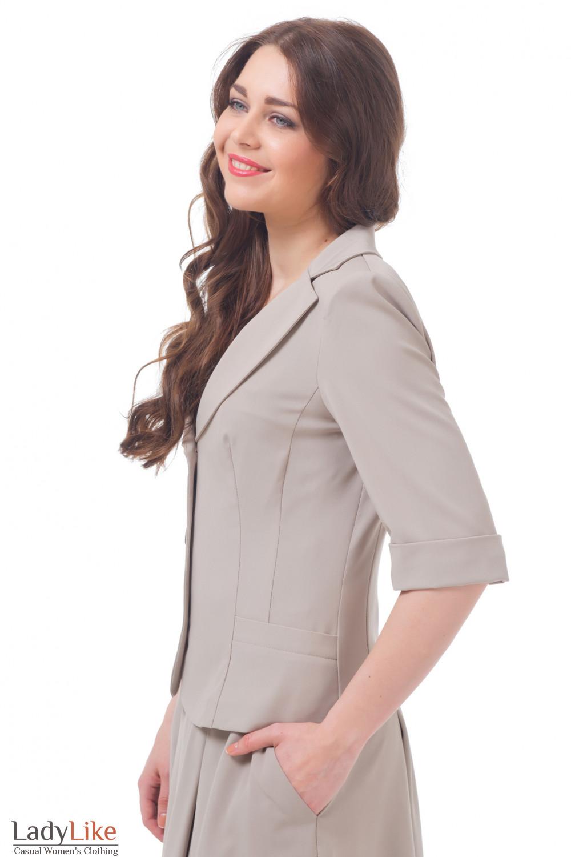 Купить бежевый жакет Деловая женская одежда