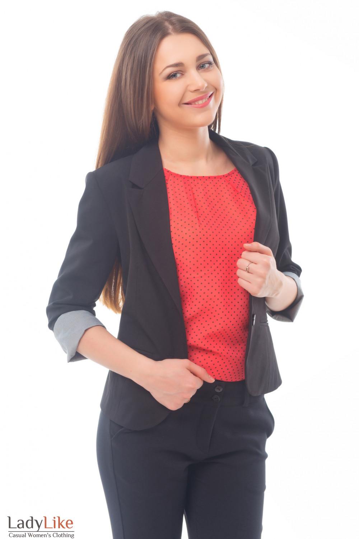 Купить жакет с полосатой манжетой Деловая женская одежда