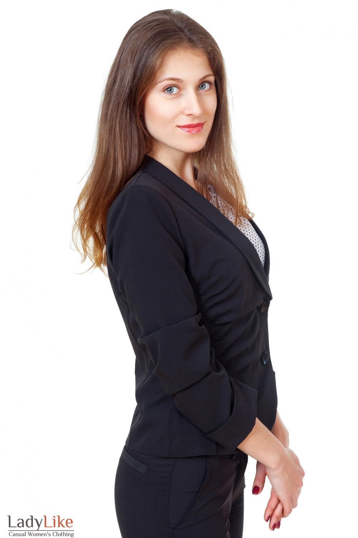 Купить черный женский жакет Деловая женская одежда