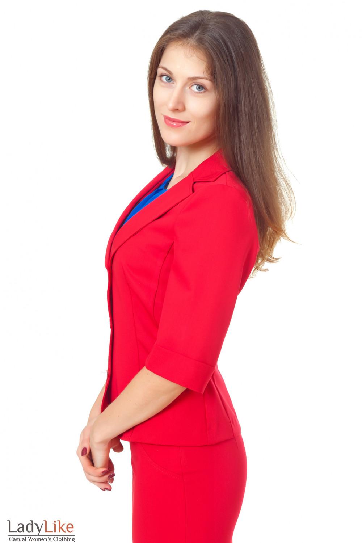 Купить летний красный жакет Деловая женская одежда