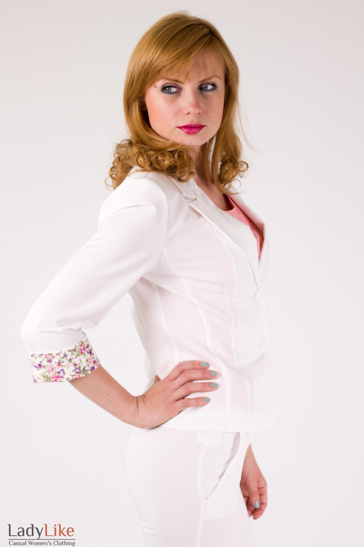 Фото Жакет молочный Деловая женская одежда
