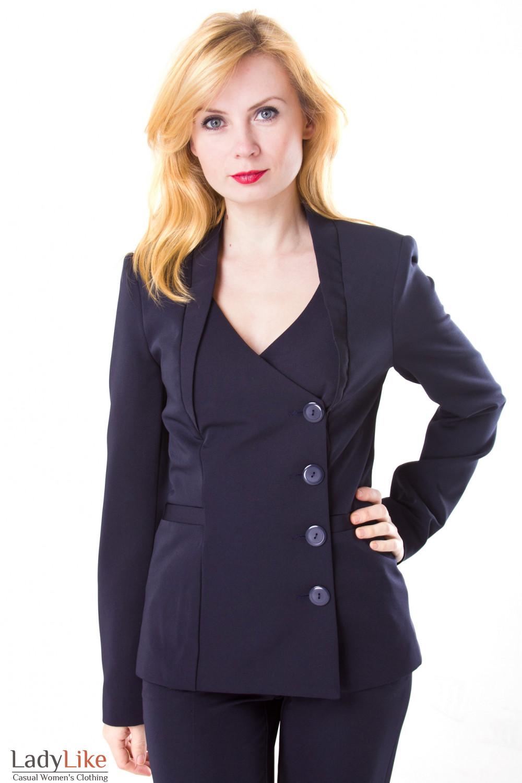 Фото Жакет двубортный Деловая женская одежда