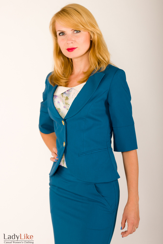 Фото Жакет зеленый Деловая женская одежда