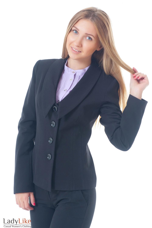 Купить удлиненный черный жакет Деловая женская одежда