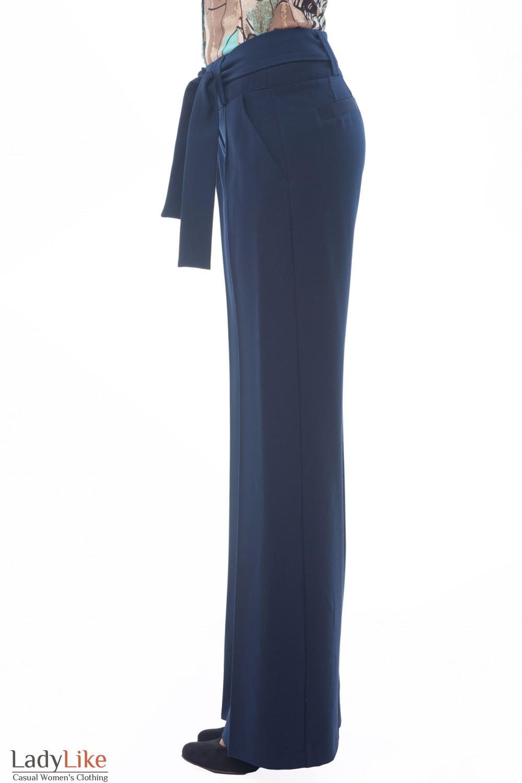Купить женские синие брюки Деловая женская одежда