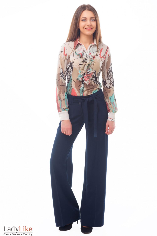 Купить брюки с поясом Деловая женская одежда