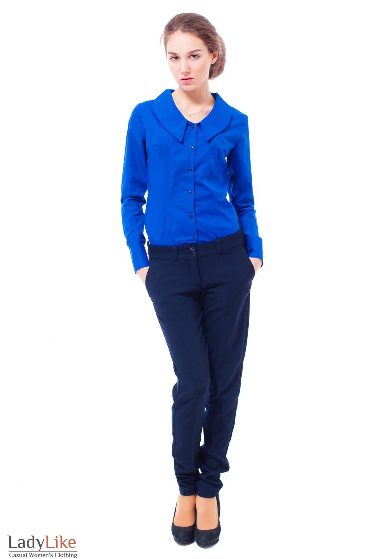 Купить зимние синие брюки Деловая женская одежда