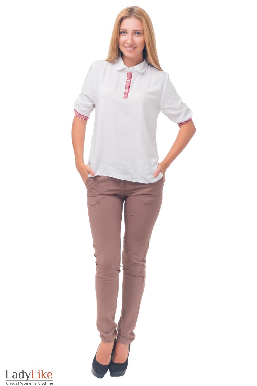 Купить блузку с орнаментом Деловая женская одежда