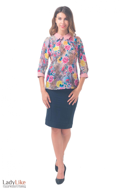 Купить цветную блузку из шифона Деловая женская одежда