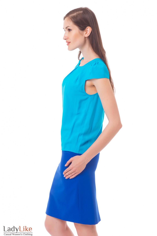 Блузка Синяя Купить С Доставкой