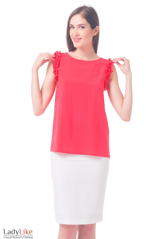 модели блузок с коротким рукавом фото
