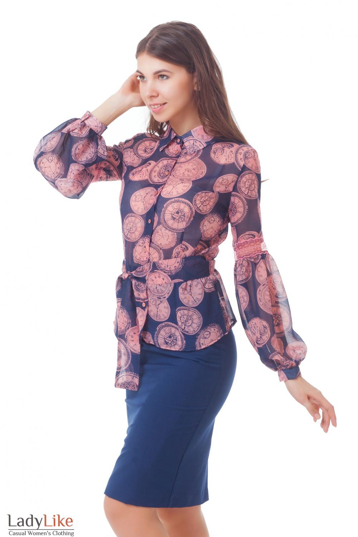 Купить блузку с кружевом Деловая женская одежда