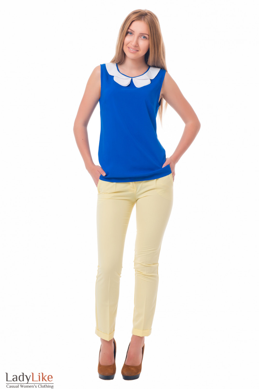 Купить нарядную синюю блузку Деловая женская одежда