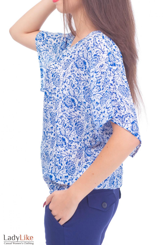 Купить  блузку из штапеля на резинке  Деловая женская одежда