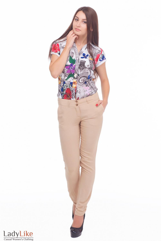 Купить летние брюки из штапеля Деловая женская одежда