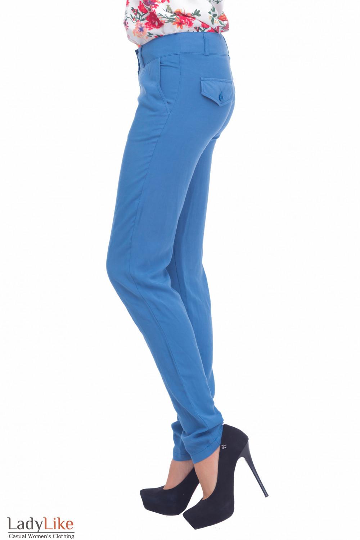 Купить голубые брюки Деловая женская одежда