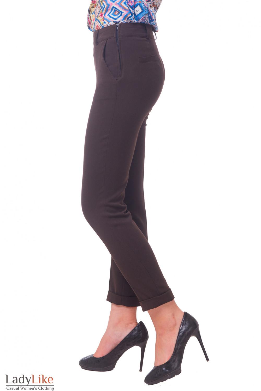 Купить брюки с застежкой сбоку Деловая женская одежда