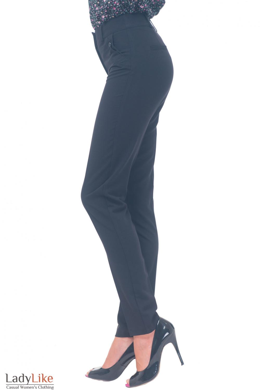 Купить зауженные брюки с клапанами Деловая женская одежда