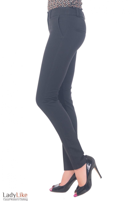 Купить брюки черные со вставкой на кармане Деловая женская одежда