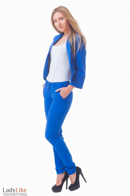 Купить брюки цвета индиго Деловая женская одежда