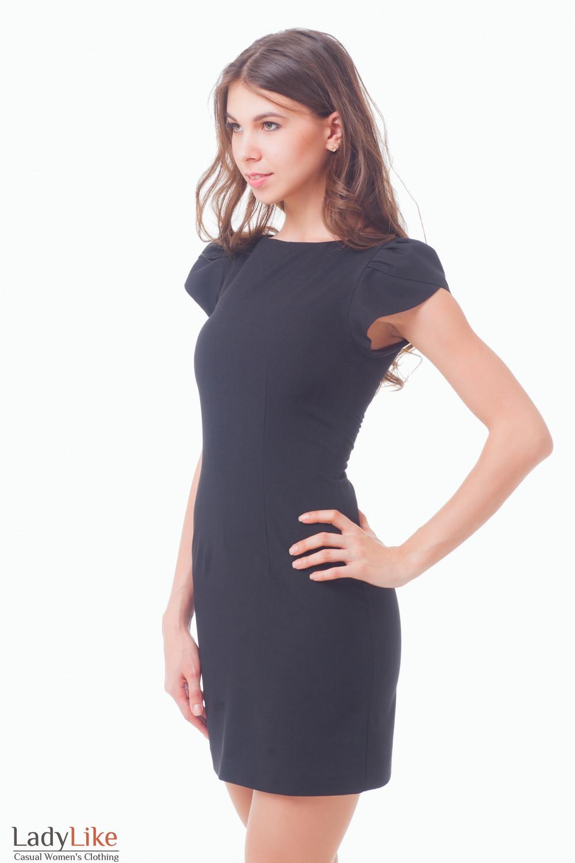 Купить черное платье с рукавчиком Деловая женская одежда