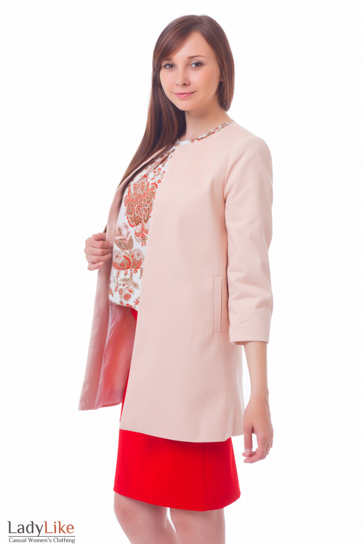 Купить Кардиган бледно-розовый Деловая женская одежда
