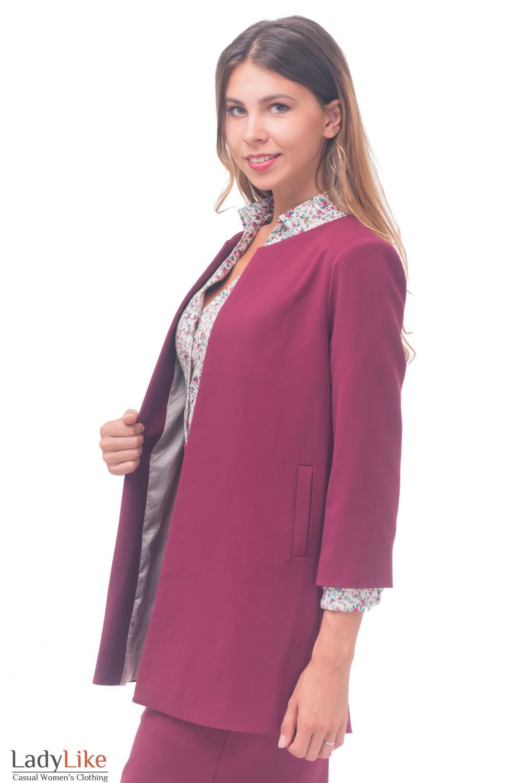 Купить кардиган бордовый Деловая женская одежда