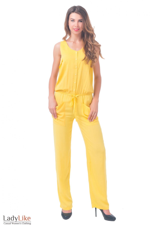 Комбинезон женский желтый Деловая женская одежда
