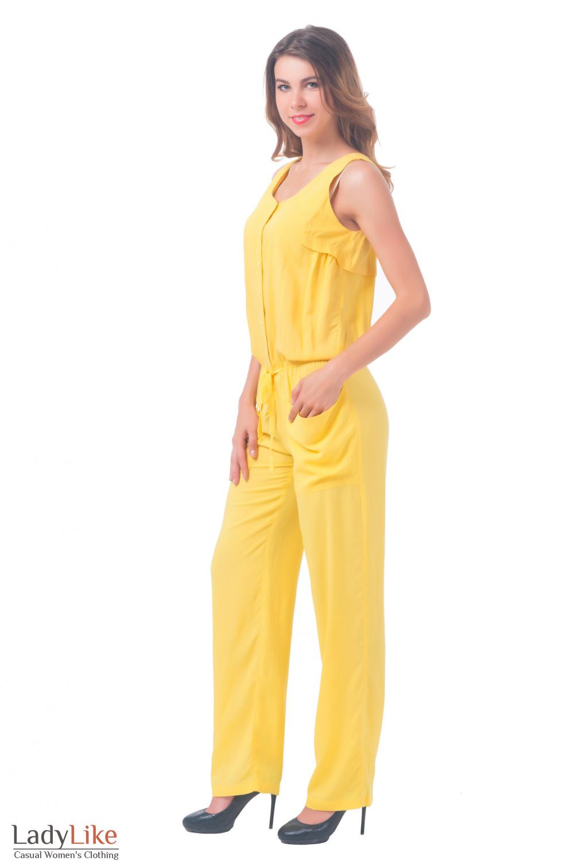 Купить комбинезон женский желтый Деловая женская одежда