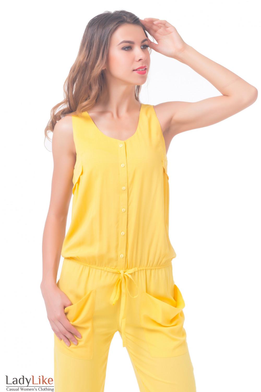 Купить комбинезон  желтый Деловая женская одежда