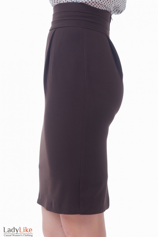Купить коричневую юбку-тюльпан Деловая женская одежда