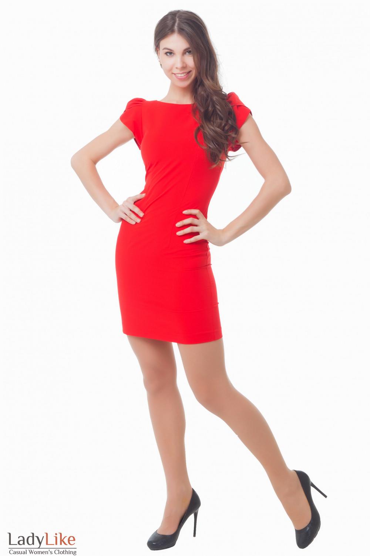 Купить яркое красное платье Деловая женская одежда