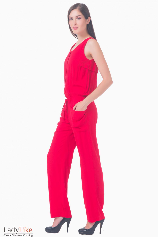 Купить красный комбинезон Деловая женская одежда