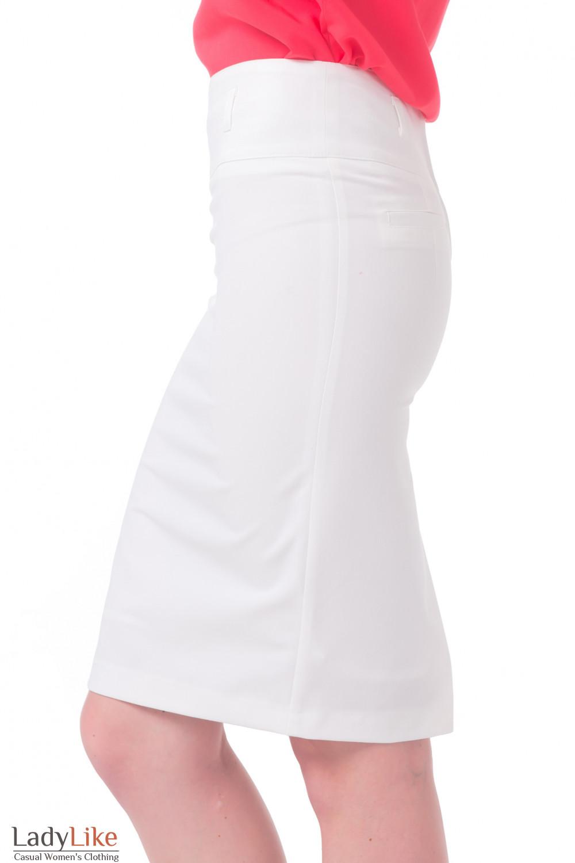 Купить молочную юбку-карандаш Деловая женская одежда