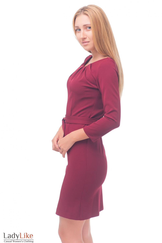 Купить бордовое платье Деловая женская одежда
