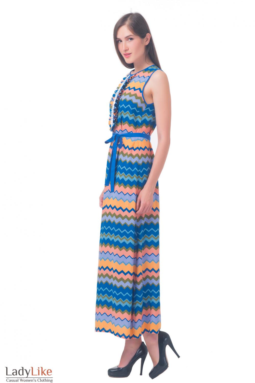 Купить платье длинное с рюшами Деловая женская одежда