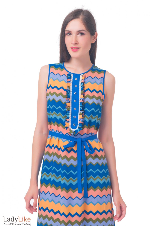 Купить разноцветное платье в пол Деловая женская одежда