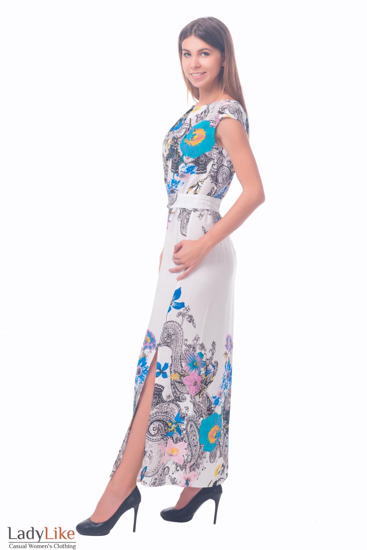 Фото Летнее длинное платье Деловая женская одежда