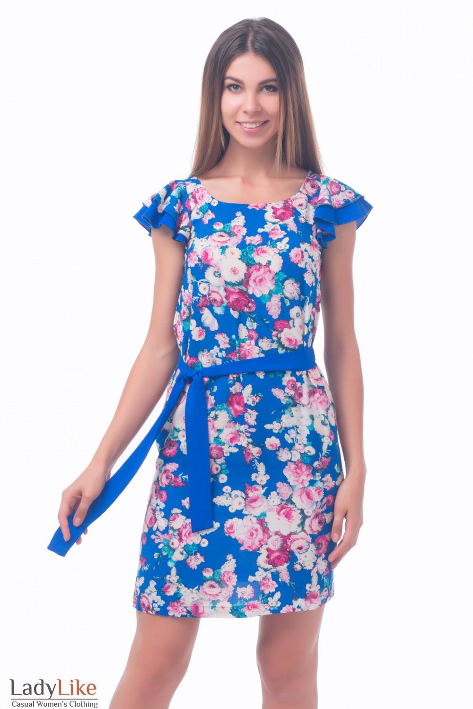 Платье из штапеля в розы — купить в интернет-магазине   Артикул ... 30d3b37ec63