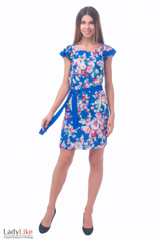 Фото Платье в цветы Деловая женская одежда