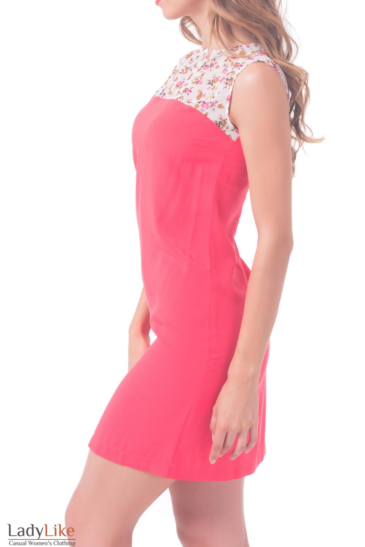 Купить платье коралловое с шифоновым верхом Деловая женская одежда