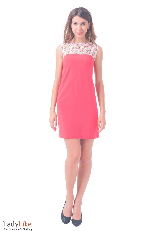 Купить штапельное платье с шифоном Деловая женская одежда