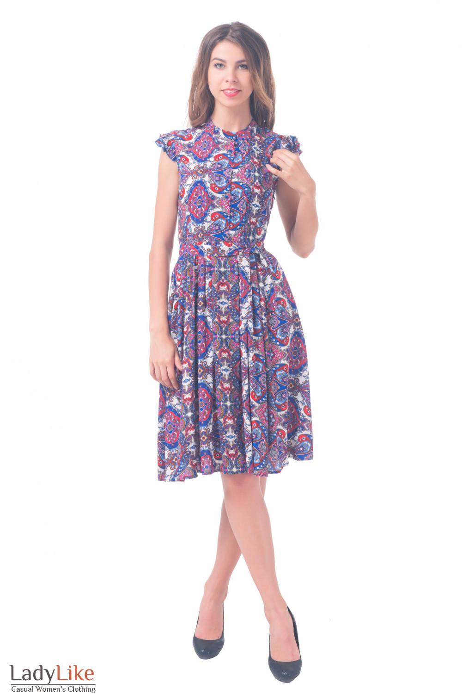 Купить летнее яркое платье  Деловая женская одежда