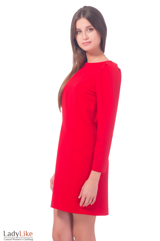 Нарядное красное платье Деловая женская одежда