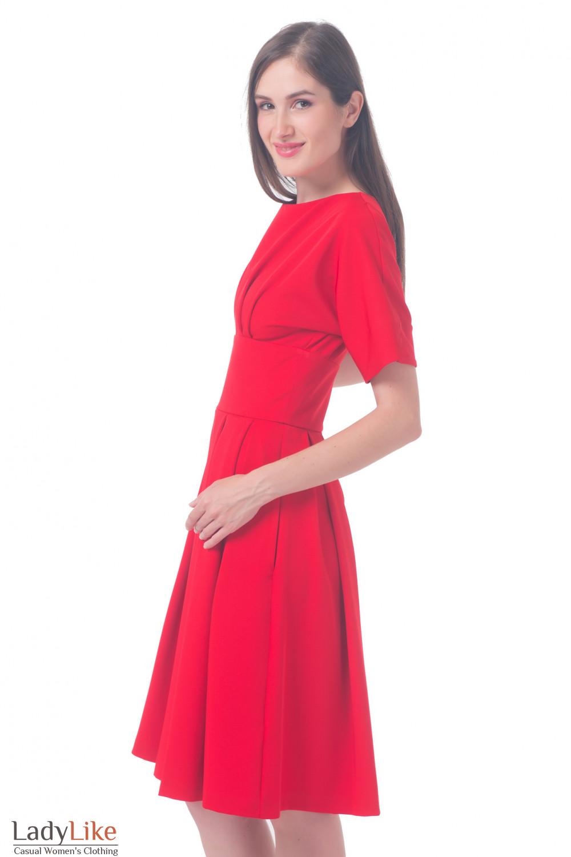 Купить Платье красное с отрезной талией Деловая женская одежда