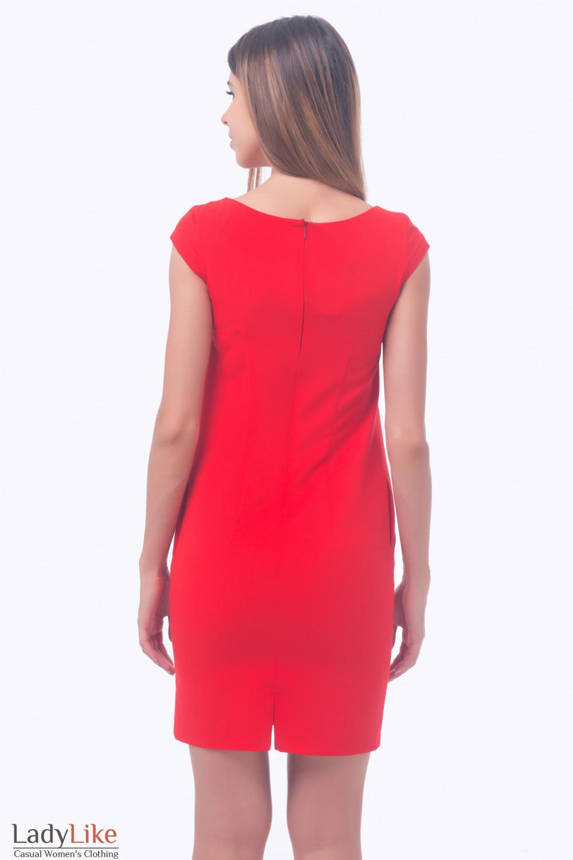 Фото Красное платье  Деловая женская одежда