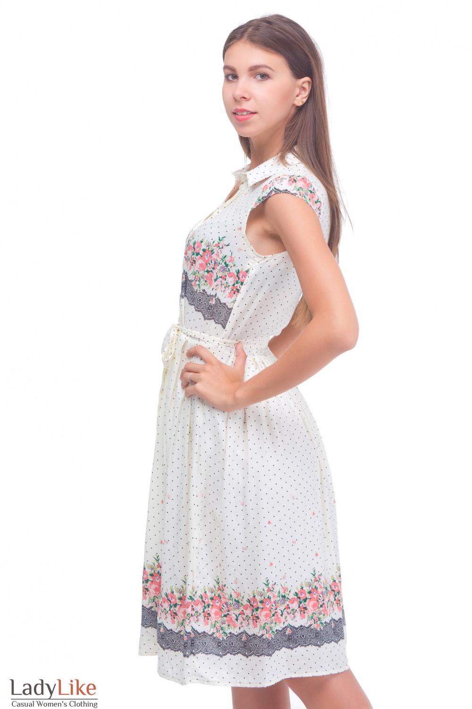 Купить молочное платье Деловая женская одежда