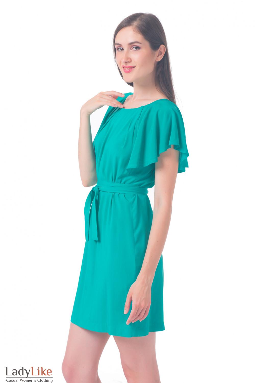Купить платье мятного цвета с рукавчиком Деловая женская одежда